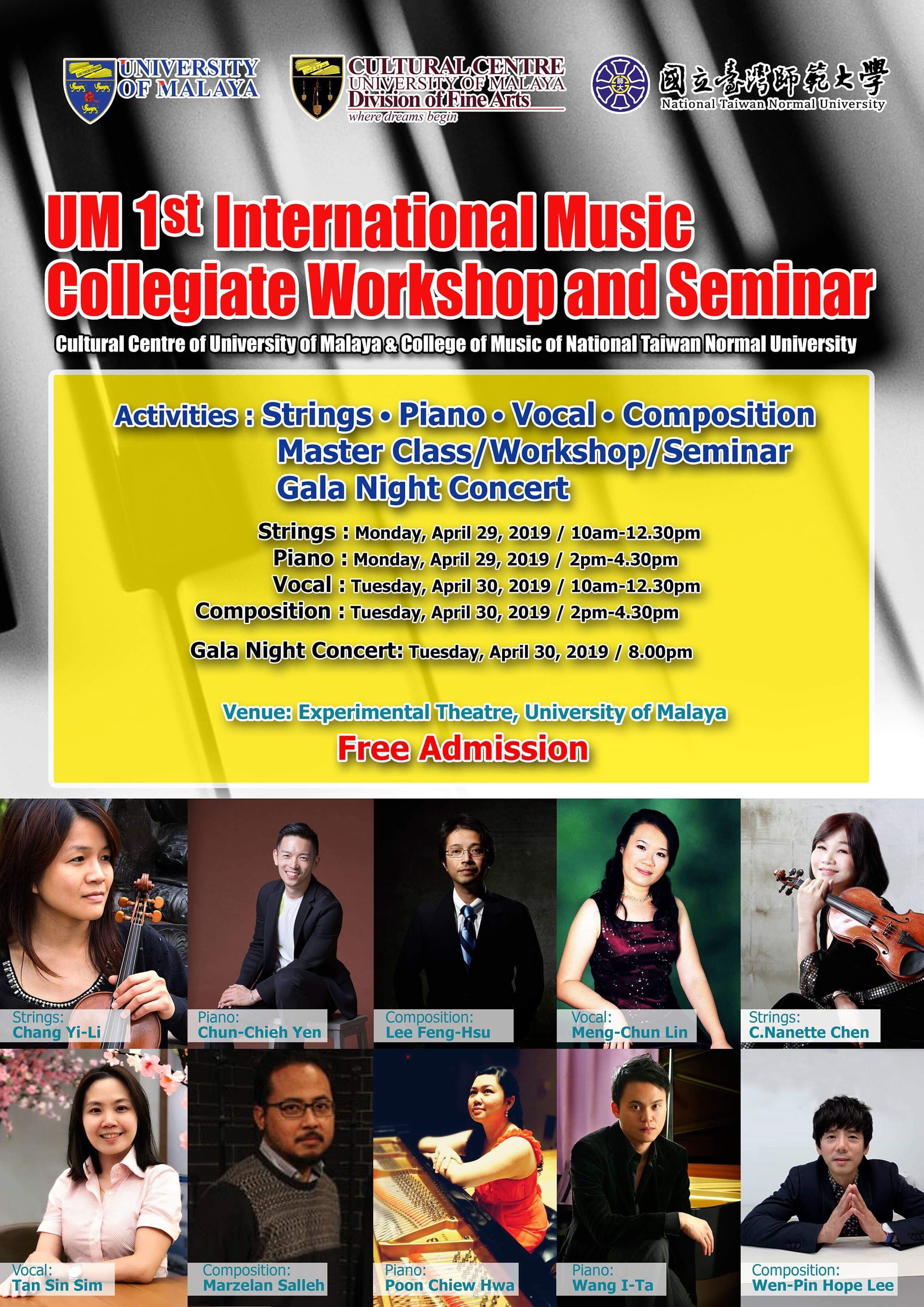 University of Malaya First International Music Collegiate Workshop and Seminar Poster